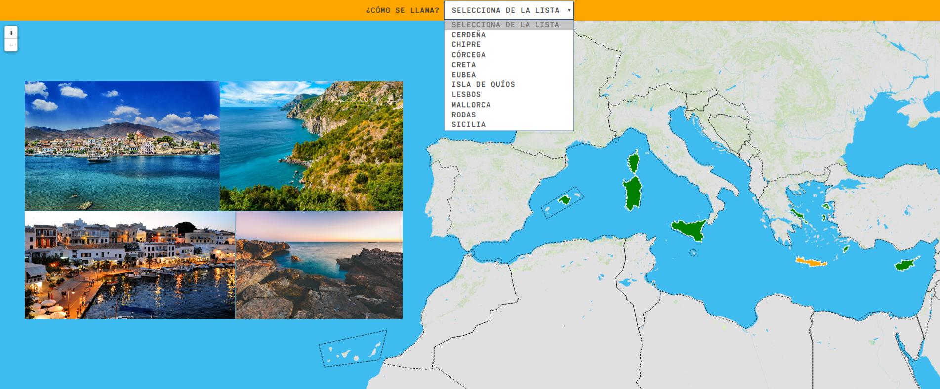 Mar Mediterrâneo: ilhas