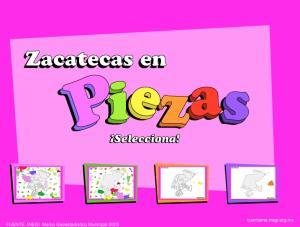 Municipios de Zacatecas. Puzzle. INEGI de México
