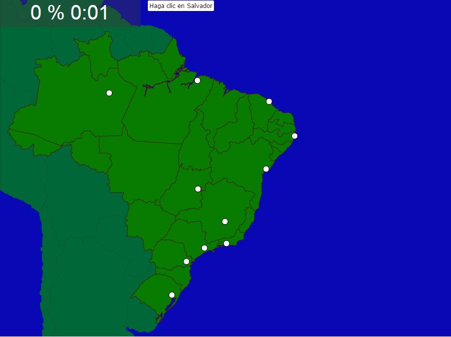 Ciudades de Brasil. Seterra