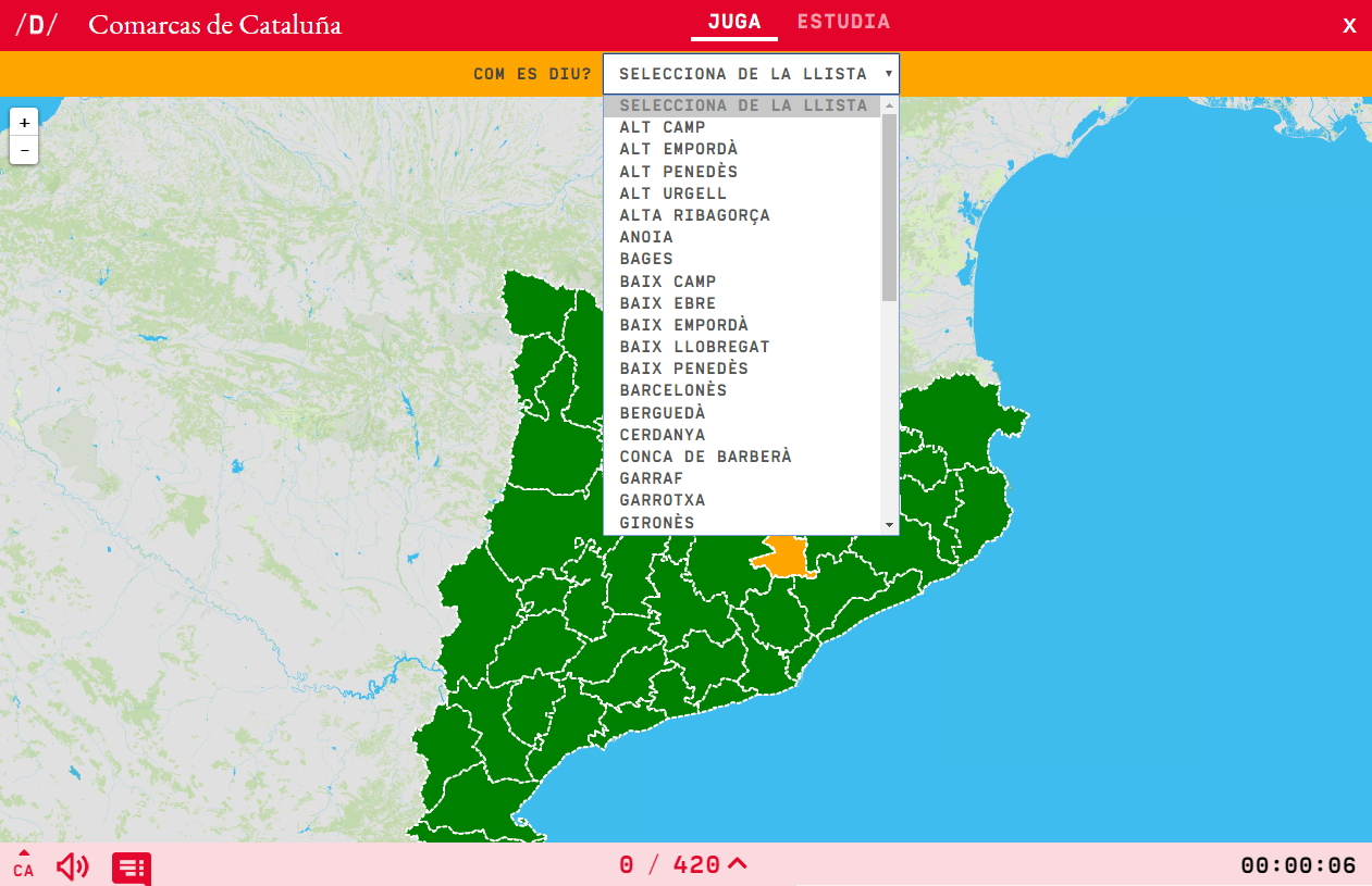 Interactive map. What's the name? Regions of Catalonia - Mapas ... on