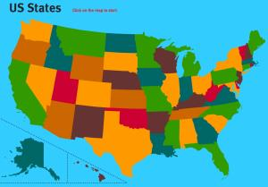 States of United States. World Geography Games