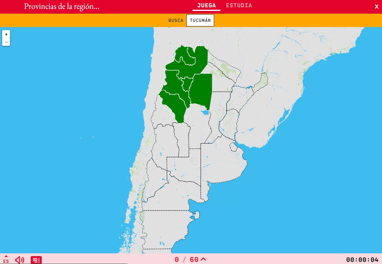 Provinces della regione nord-ovest del Argentina