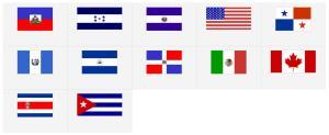 Banderas de América del Norte y Central. Seterra