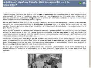 La población española: España, tierra de emigrantes ... ¿o de inmigrantes?