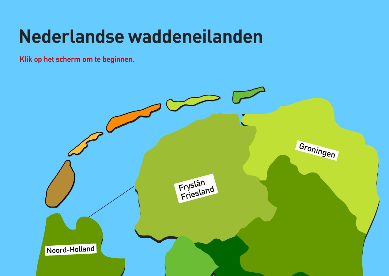 Nederlandse waddeneilanden. Topografie van Nederland