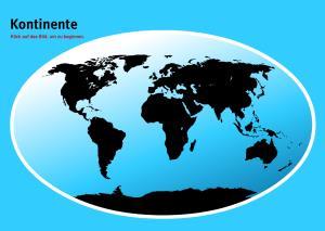 Kontinenten der Welt. Welt-Quiz Geographie