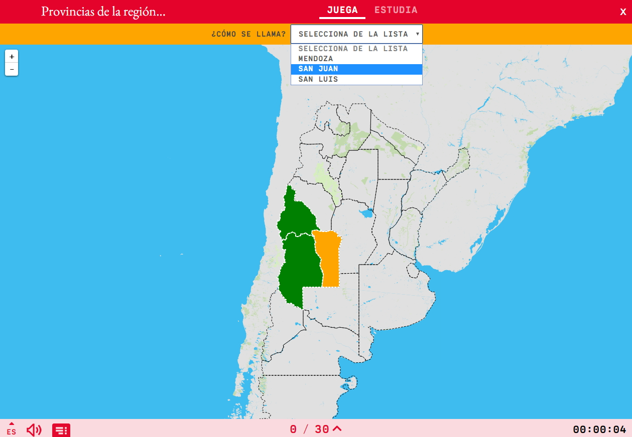 Provincias da rexión de Cuyo de Arxentina