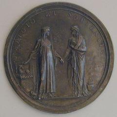 Prueba de reverso de la medalla del cardenal Gerdil