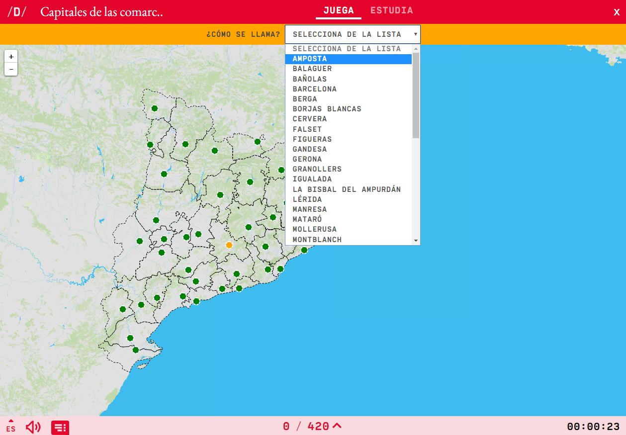Capitales de las comarcas de Cataluña
