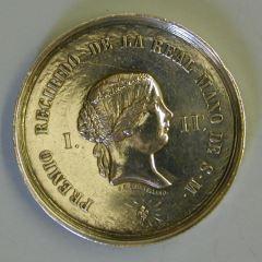 Medalla conmemorativa de la Exposición Provincial, Granada 1862