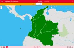 Natürliche Regionen von Columbie