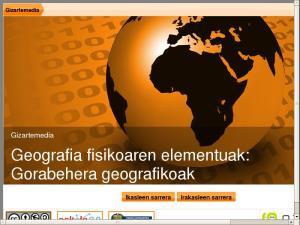GizarteMedia - Geografia fisikoaren elementuak:  Gorabehera geografikoak