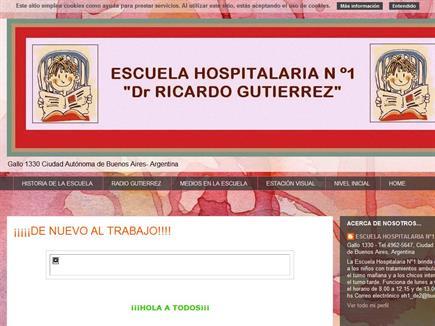 """ESCUELA HOSPITALARIA N°1 """"DR. RICARDO GUTIERREZ"""""""