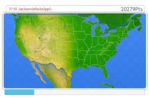 Capitals of USA. Geography map games