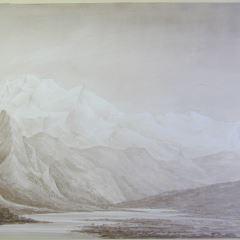 Vista del Mont Blanc desde St Martin (Francia)