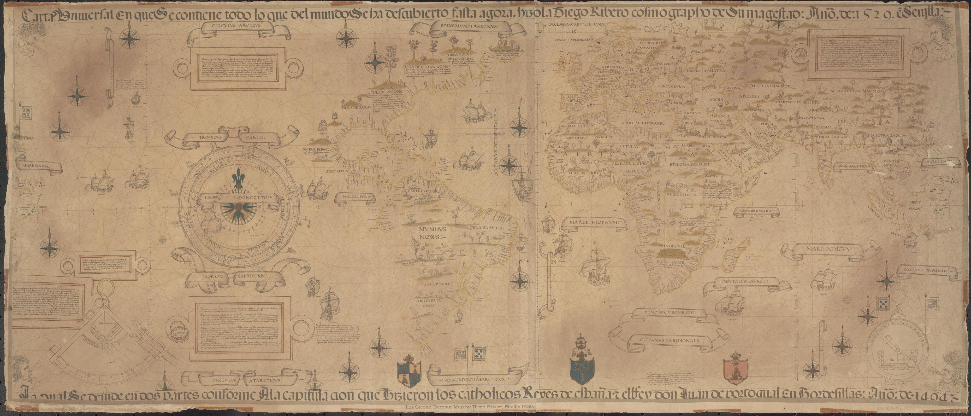 El gran mapa de Diego Ribero de 1529