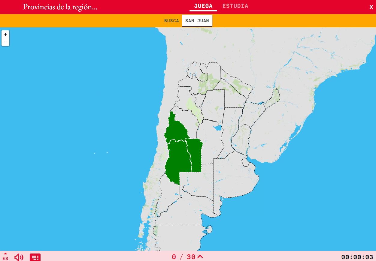 Provincias de la región de Cuyo de Argentina