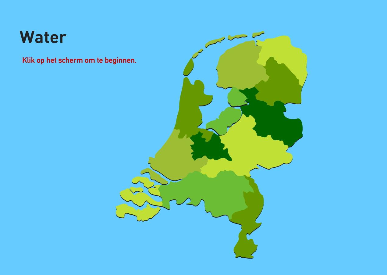 Water van Nederland. Topo VMBO