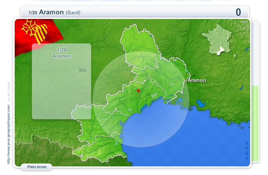 Villes du Languedoc-Roussillon. Jeux géographiques