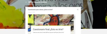 ABP en Educación Artística