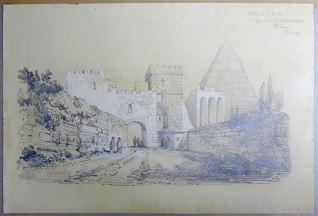 Puerta de San Pablo y Pirámide de Caius Cestius, Roma (Italia)