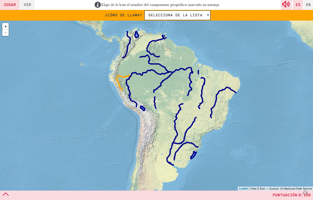 Rivers and lakes of South America