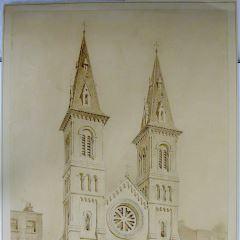 Fachada de una iglesia románica