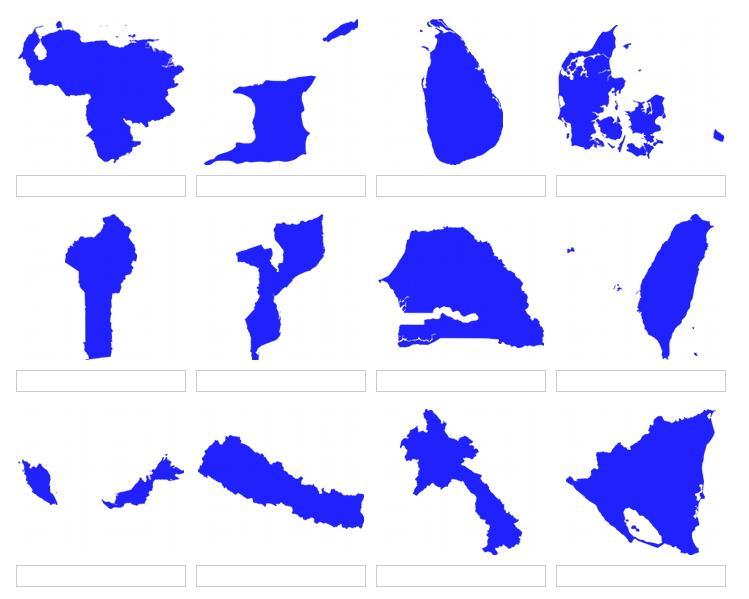 Formas de países del mundo 4 (JetPunk)