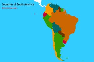 Countries of South America. World Geography Games
