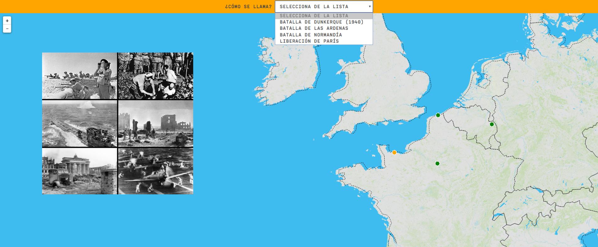 Europe in World War II: battles - Easy Level
