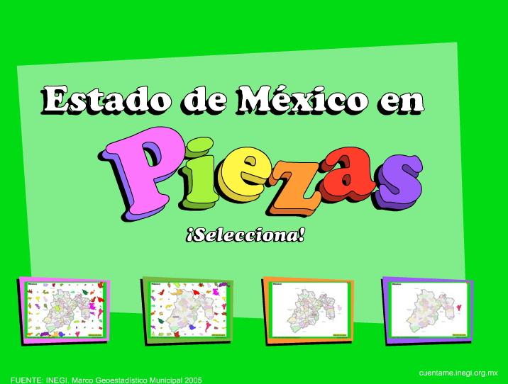 Municipios del Estado de México. Puzzle. INEGI de México