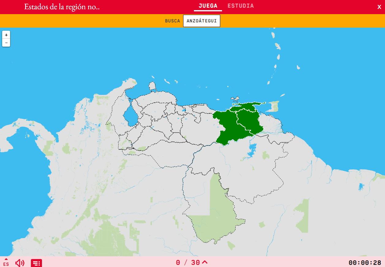 Estados de la región nororiental de Venezuela