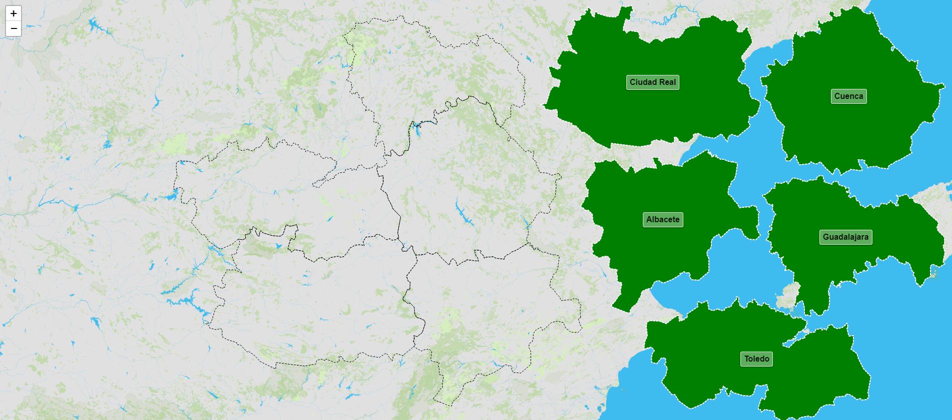 Provincias de Castilla-La Mancha