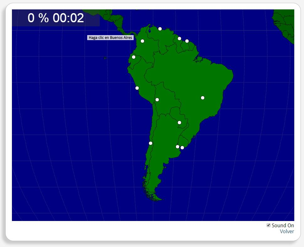 Zuid-Amerika: Hoofdsteden. Seterra