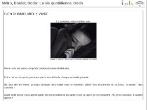 Métro, Boulot, Dodo: La vie quotidienne. Dodo