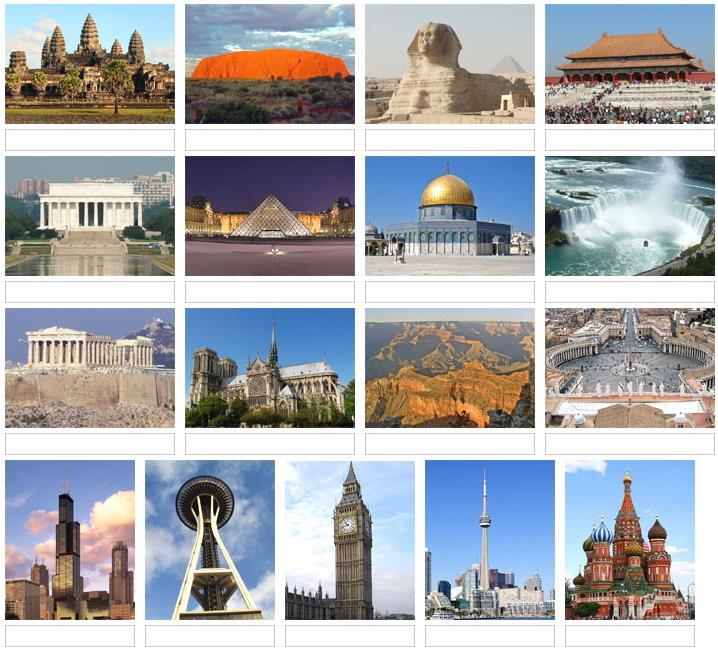 Picture of world landmarks 2 (JetPunk)