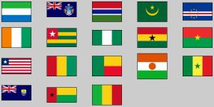 Flags of Western Africa. Lizard Point