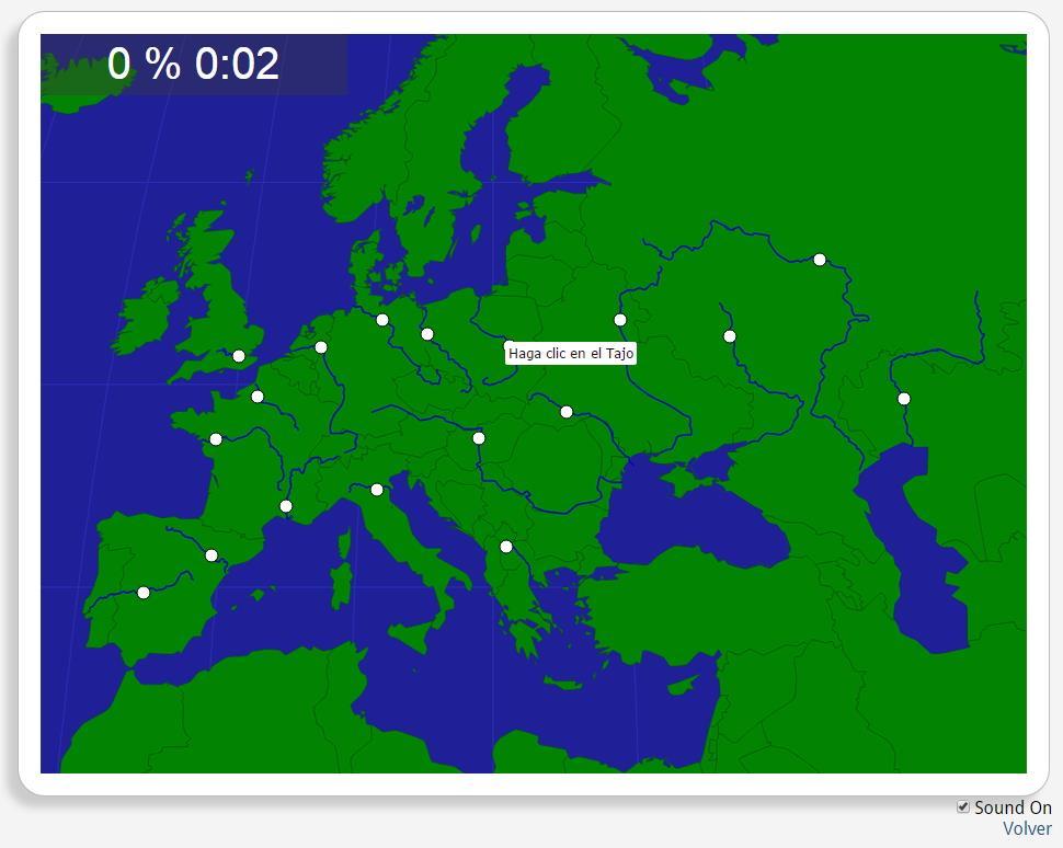 Europa: Flüsse. Seterra