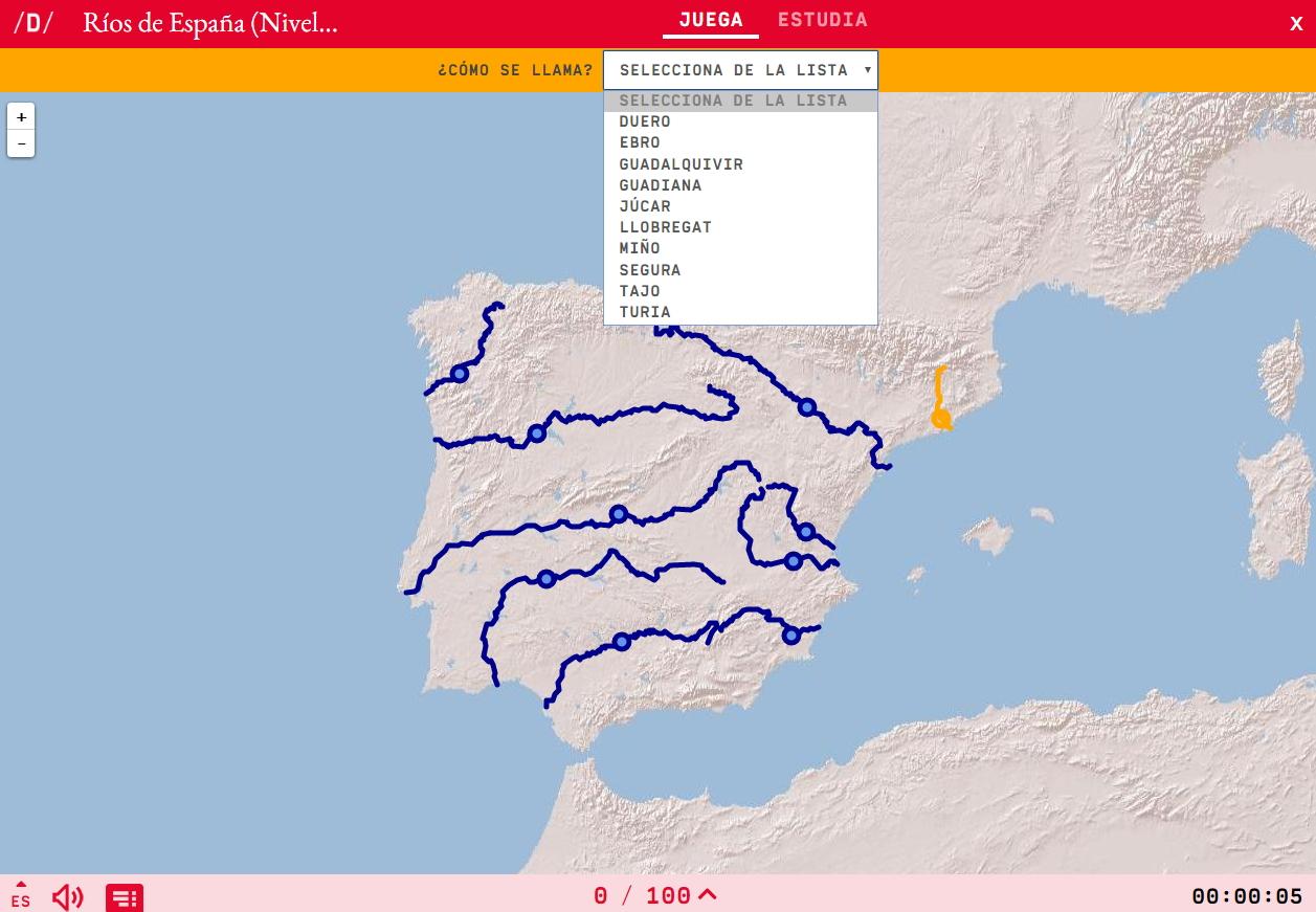 Os ríos da Espanha -Fácil