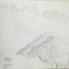 Vista de la cascada de Marmore (Italia)