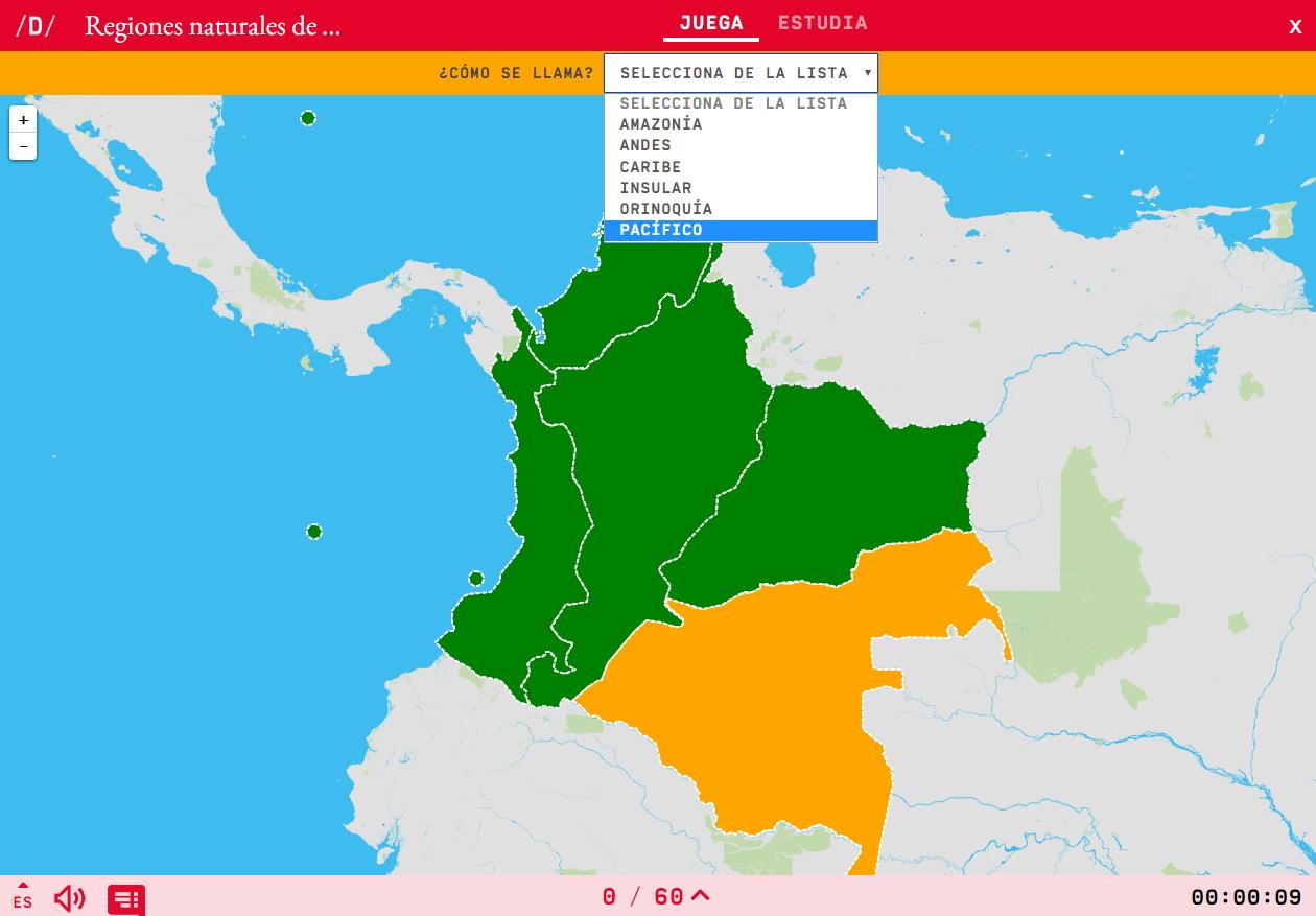 Rexións naturais do Colombia