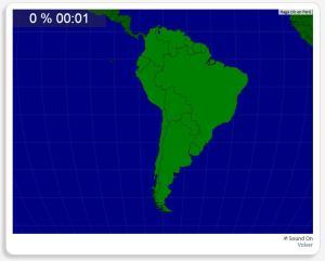 América do Sul: Países. Seterra