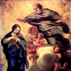 La Inmaculada Concepción con el Padre Eterno