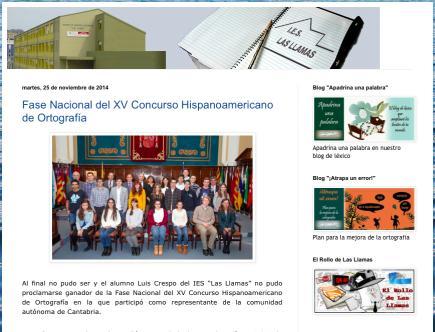 Blog del Dpto. de LCL del IES Las Llamas