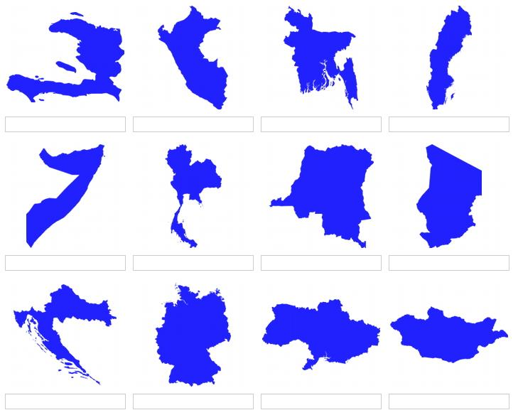 Shapes of world countries 3 (JetPunk)