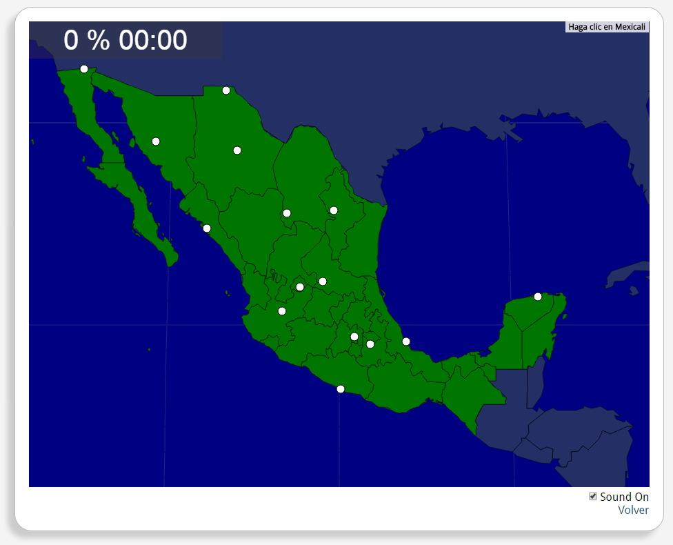 Mexiko: Städte. Seterra