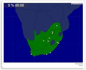 África do Sul: Cidades. Seterra