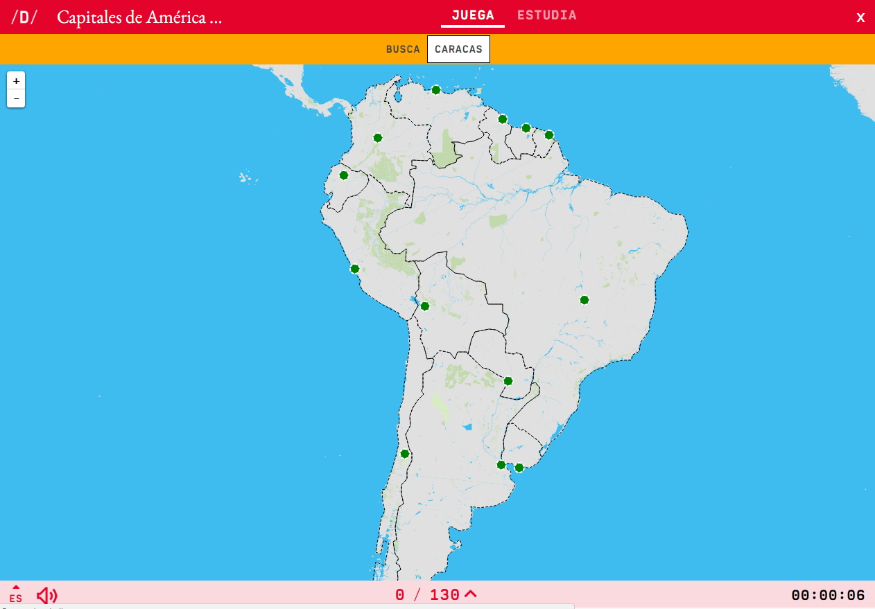 Interactive map. Where is it? Capitals of South America - Mapas ...