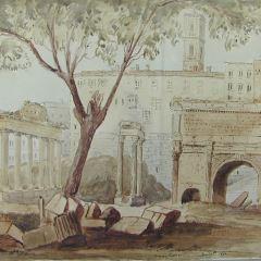 Vista del Foro hacia el Capitolio, Roma (Italia)