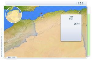 Villes d'Algerie. Jeux géographiques